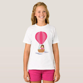 """Cathy and the Cat"" in globe T-Shirt"