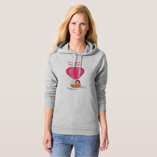 """""""Cathy and the Cat"""" in globe (with text) Hoodie"""