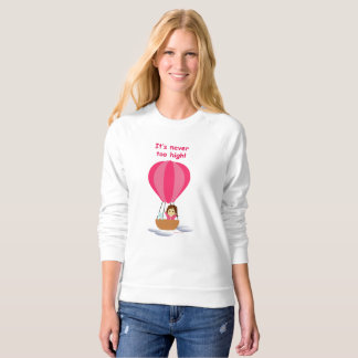 """""""Cathy and the Cat"""" in globe (with text) Sweatshirt"""