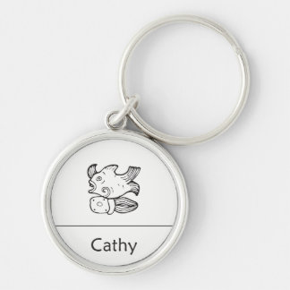 Cathy in Mayan Keychain