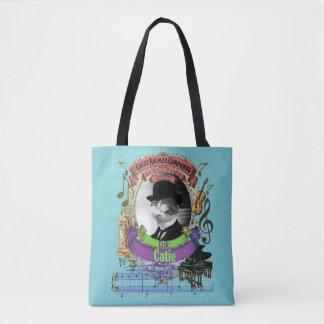 Catie Funny Cute Cat Animal Composer Satie Tote Bag