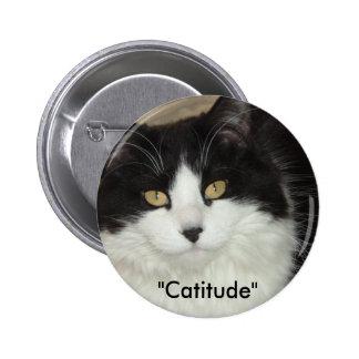 Catitude Cat with an Attitude 6 Cm Round Badge