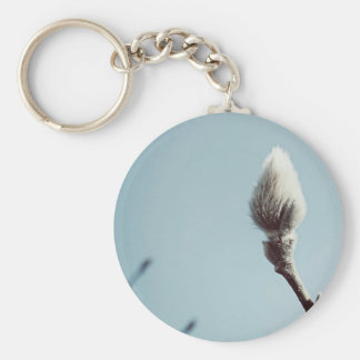 Catkin winter Willow Tree Key Ring