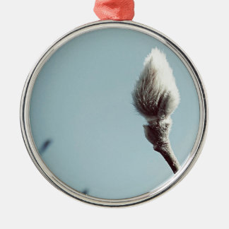 Catkin winter Willow Tree Silver-Colored Round Decoration