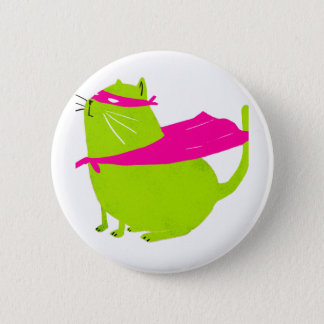Catman Green 6 Cm Round Badge
