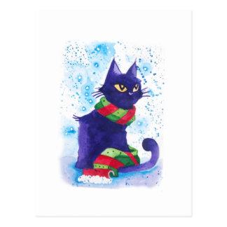Catmas Card - Cat in scarf
