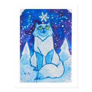Catmas Card - Cat meets snowflake