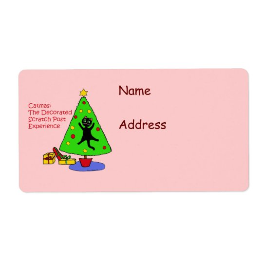 Catmas Experience Shipping Label