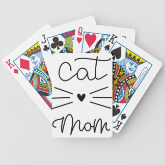 catmom bicycle playing cards
