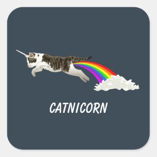 Catnicorn - I Poop Rainbow Square Sticker