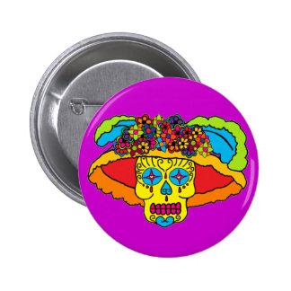 Catrina Sugar Skull Buttons