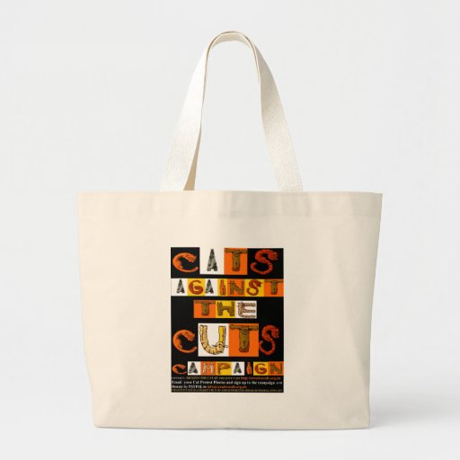 Cats against the Cuts Campaign Canvas Bag