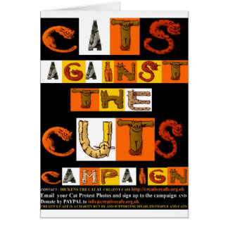 Cats against the Cuts Campaign Greeting Card