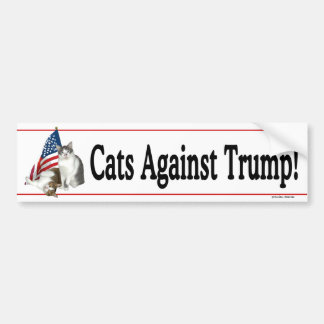 """Cats Against Trump"" Bumpersticker Bumper Sticker"