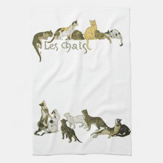 Cats, Alexandre Steinlen Tea Towel