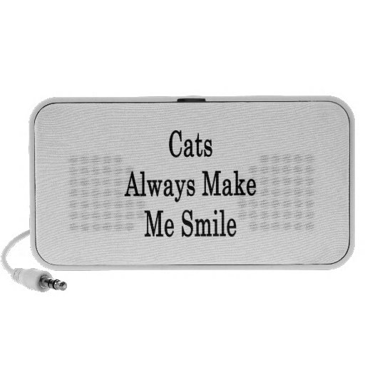 Cats Always Make Me Smile Travelling Speakers