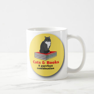 Cats and Books ... a purrrfect combination Coffee Mug