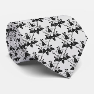 Cats and Catnip Damask Look Pattern Tie