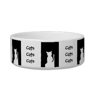 Cats and Cats and Cats Design Pet Cat Food Dish 4 Cat Food Bowl