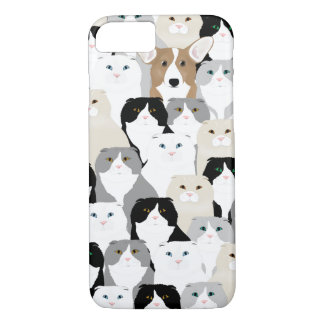 Cats and Dogs Apple iPhone8-7, Barely There Phone iPhone 8/7 Case