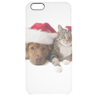 Cats and dogs - Christmas cat - christmas dog Clear iPhone 6 Plus Case