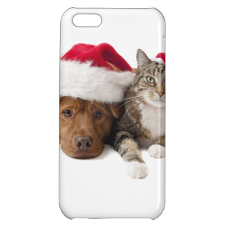 Cats and dogs - Christmas cat - christmas dog Cover For iPhone 5C