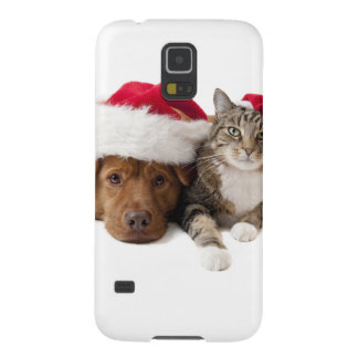 Cats and dogs - Christmas cat - christmas dog Galaxy S5 Covers