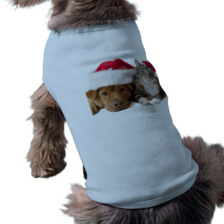 Cats and dogs - Christmas cat - christmas dog Shirt