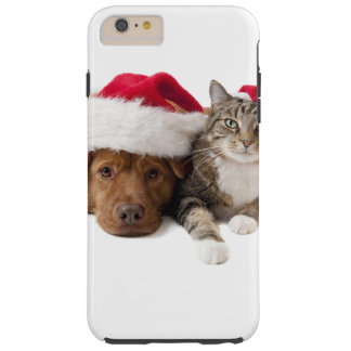Cats and dogs - Christmas cat - christmas dog Tough iPhone 6 Plus Case