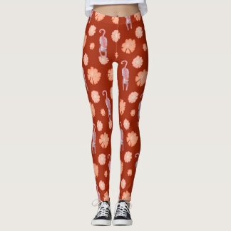 Cats and flowers sienna leggings