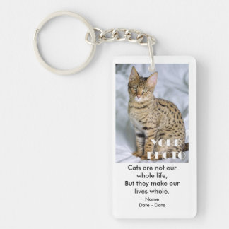 Cats And Life Pet Memorial Keychain
