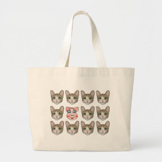 Cats and Piggy Canvas Bag