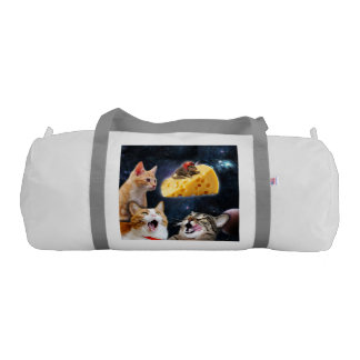 Cats and the mouse on the cheese gym duffel bag