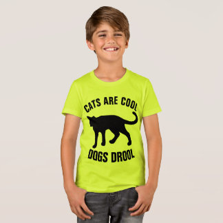 CATS ARE COOL DOGS DROOL, KIDS T-SHIRTS