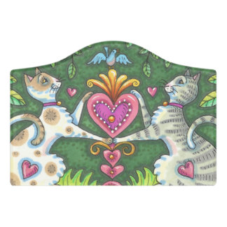 CATS ARE MY HEART CREST SMALL ROOM SIGN