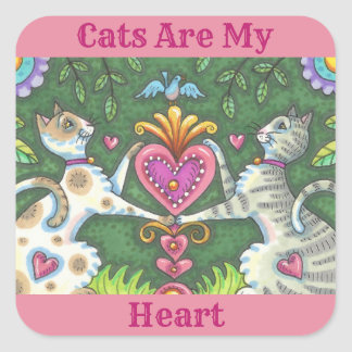 CATS ARE MY HEART STICKER Sheet