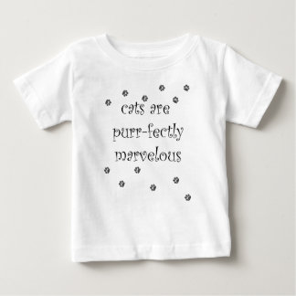 cats are purrfectly marvelous with paw prints baby T-Shirt