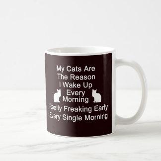 Cats Are The Reason Coffee Mug-Black Coffee Mug