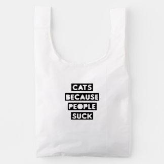 Cats Because People Suck Baggu Reusable Bag