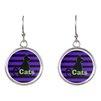 Cats Black Cat Pop Art Street Style CricketDiane Earrings