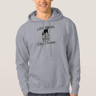 Cats Books Life is Sweet Sweatshirt