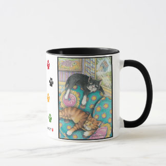 Cats Bud & Tony Nap Mug #3