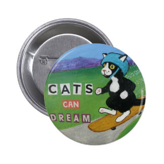 Cats Can Dream 6 Cm Round Badge