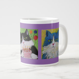 Cats cats cats large coffee mug