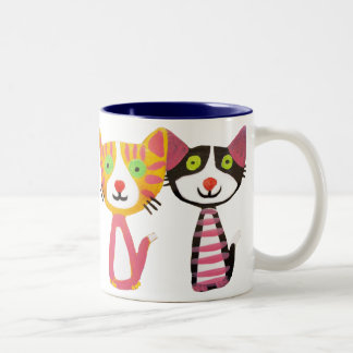 cats cats cats Two-Tone coffee mug