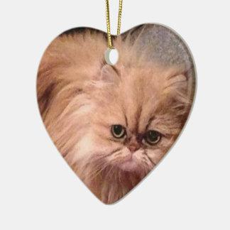 cats ceramic heart decoration