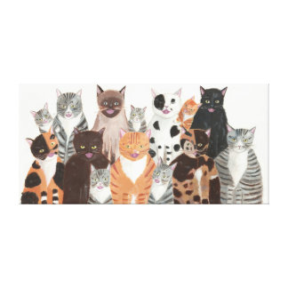 Cats Chorus Gallery Wrapped Canvas