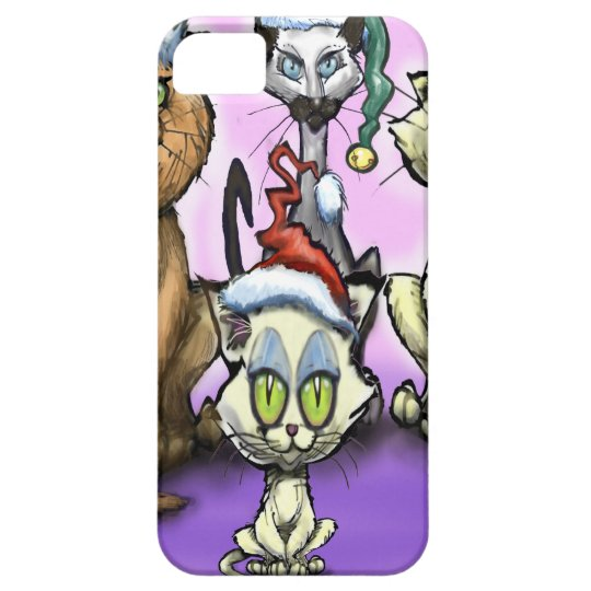Cats Christmas Hats Case For The iPhone 5