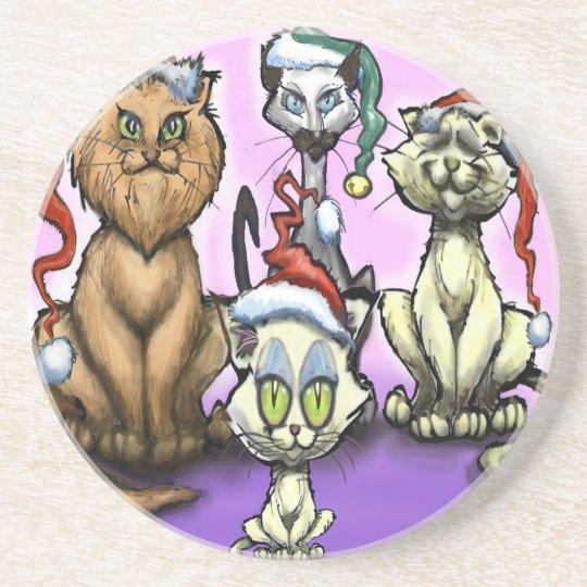 Cats Christmas Hats Coaster