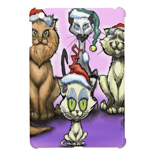 Cats Christmas Hats Cover For The iPad Mini